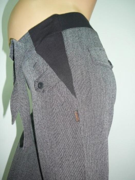панталон Лео Черен меланж/есен-зима/