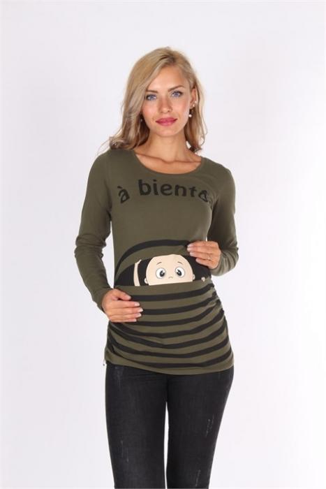 блуза Т.зелена бебе райе наднича
