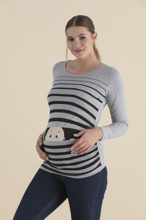 блуза Бебе сива раие наднича