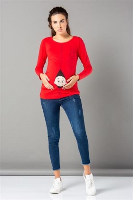 блуза Бебе червена дух