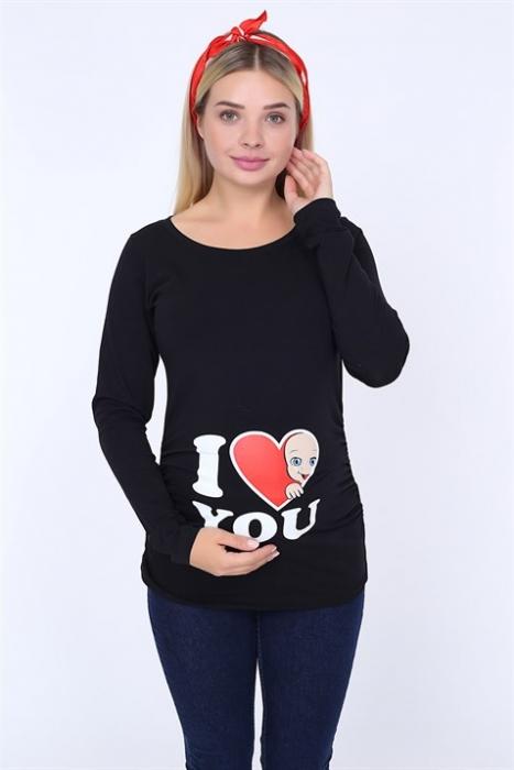 блуза Бебе love черна